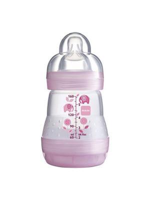 Бутылочка для кормления MAM Anti-Colic, 160 мл. Цвет: розовый