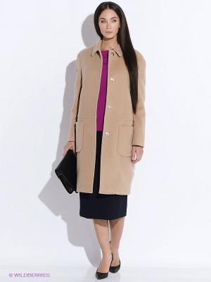 Пальто PAROLE by Victoria Andreyanova. Цвет: бежевый