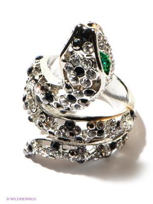 Кольцо Selena. Цвет: серебристый, черный