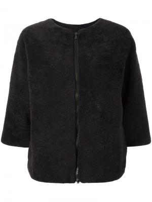 Куртка с рукавами три четверти Daniela Pancheri. Цвет: коричневый