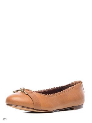 Балетки Tommy Hilfiger. Цвет: коричневый