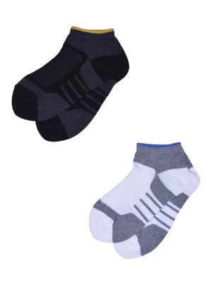 Носки, 2 пары Skinija. Цвет: черный, белый