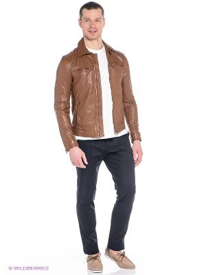 Куртка Oodji. Цвет: коричневый