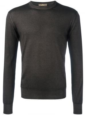 Джемпер в стиле casual Cruciani. Цвет: коричневый