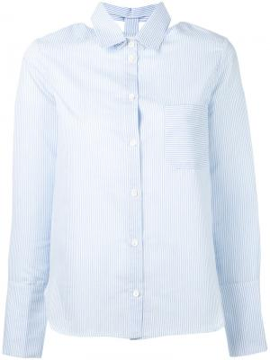 Striped cut-out collar shirt Nanushka. Цвет: белый