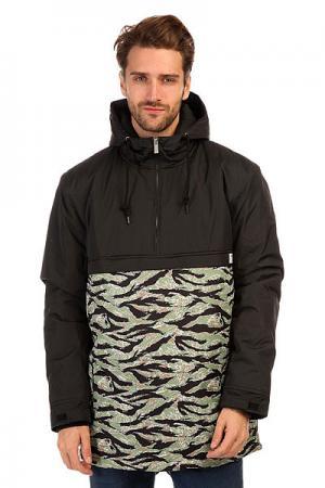 Анорак  Fishtail Anorak Black/Camo TrueSpin. Цвет: зеленый,черный,камуфляжный