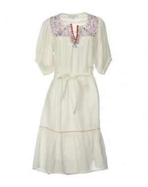 Платье до колена CHRISTOPHE SAUVAT. Цвет: белый