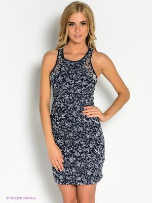 Платье Oodji. Цвет: темно-синий