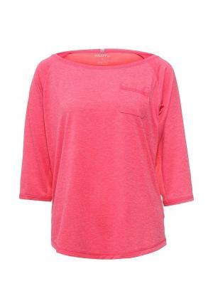 Лонгслив спортивный Craft. Цвет: розовый