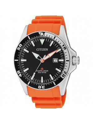 Часы BN0100-18E CITIZEN. Цвет: черный, оранжевый, серебристый