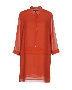 Короткое платье B.YU. Цвет: ржаво-коричневый