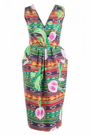 Платье STELLA JEAN. Цвет: зеленый