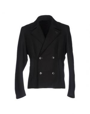 Легкое пальто COSTUME NATIONAL HOMME. Цвет: черный