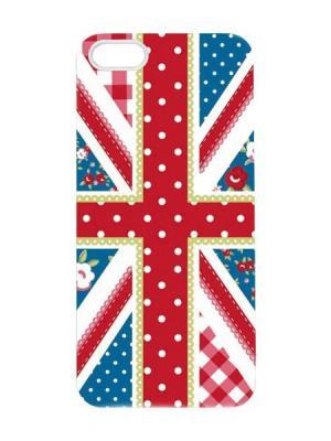 Чехол для iPhone 5/5s Британский флаг - печворк Арт. IP5-024 Chocopony. Цвет: красный, белый