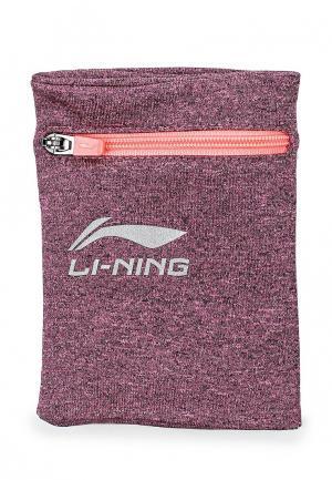 Напульсники Li-Ning. Цвет: розовый