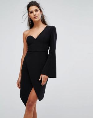 Finders Keepers Структурированное платье с одним рукавом Chances. Цвет: черный