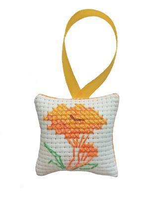 Набор для изготовления брелока Лисичка ZENGANA. Цвет: желтый