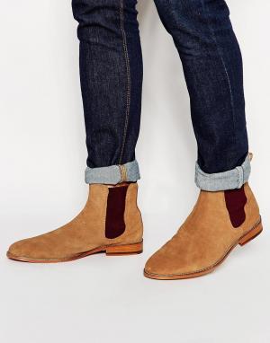 Bobbies Замшевые ботинки челси LHorloger. Цвет: коричневый