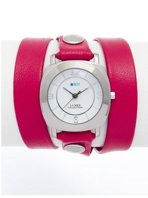 Часы La Mer Collections. Цвет: фуксия, серебристый