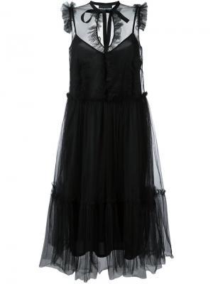 Платье без рукавов Marco Bologna. Цвет: чёрный