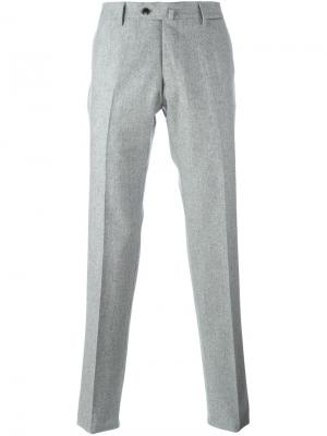 Классические брюки Caruso. Цвет: серый