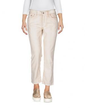 Джинсовые брюки-капри REIGN. Цвет: бежевый