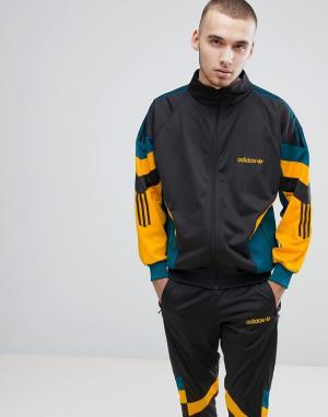 Adidas Originals Черная спортивная куртка в винтажном стиле CE4829. Цвет: серый