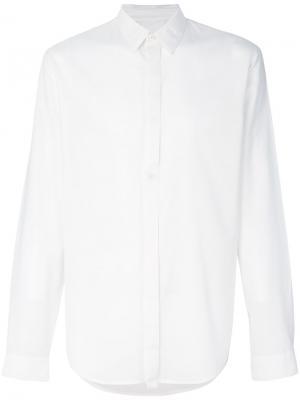 Рубашка на пуговицах Helmut Lang. Цвет: белый