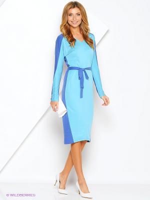 Платье Xarizmas. Цвет: синий, голубой