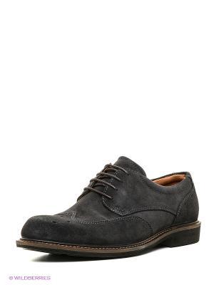 Туфли ECCO. Цвет: серо-коричневый