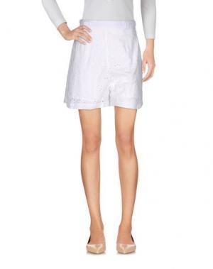 Повседневные шорты MIGUELINA. Цвет: белый