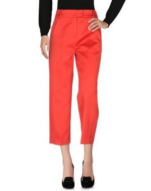 Повседневные брюки WEILI ZHENG. Цвет: красный