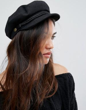 Brixton Черная кепка газетчика. Цвет: черный