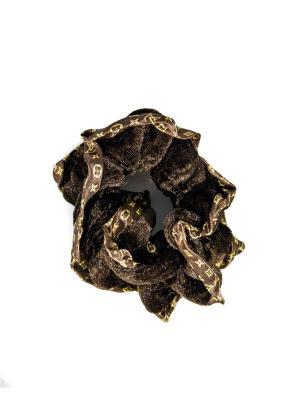 Резинка для волос Bizon. Цвет: коричневый