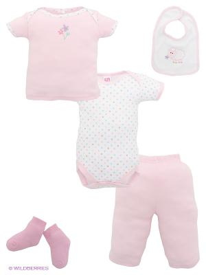 Комплект Hudson Baby. Цвет: розовый, белый