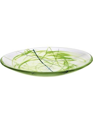 Contrast lime тарелка d 380mm Kosta Boda. Цвет: зеленый