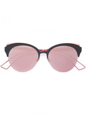 Солнцезащитные очки в круглой оправе Dior Eyewear. Цвет: розовый и фиолетовый