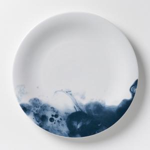 4 тарелки мелкие фарфоровые Encira AM.PM.. Цвет: синий