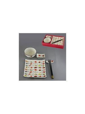 Набор для суши 5 пр. 300 мл SAGURO. Цвет: белый