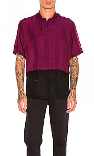 Приталенная рубашка в двух тонах Robert Geller. Цвет: фиолетовый