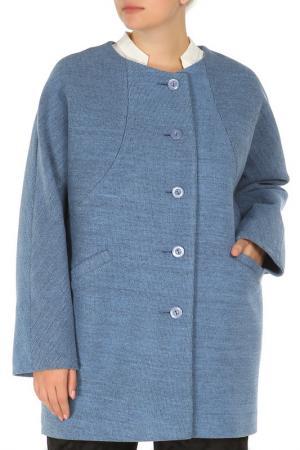 Пальто КОРУ-СТИЛЬ. Цвет: irbis blue