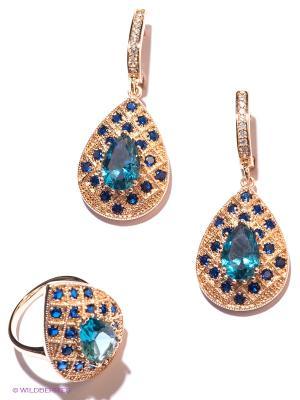 Комплект Lovely Jewelry. Цвет: золотистый, голубой