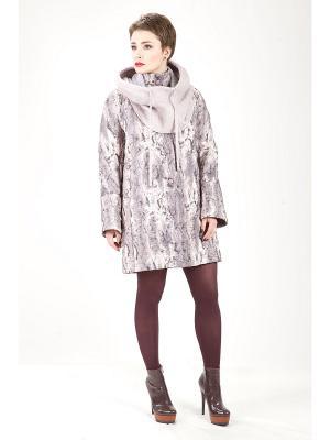 Пальто Lanicka. Цвет: лиловый, черный, серый