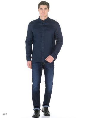 Рубашка TIMBERLAND. Цвет: темно-синий
