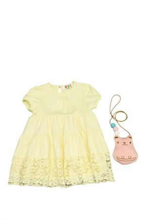 Платье Kidly. Цвет: светло-желтый