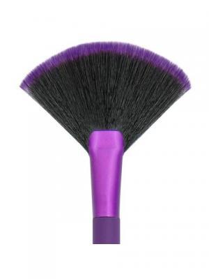 Royal&langnickel MODA FAN. Веерная кисть для макияжа. Цвет: фиолетовый