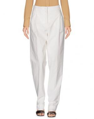 Повседневные брюки SCAGLIONE. Цвет: белый