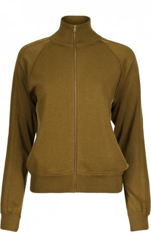 Спортивная куртка на молнии Chloé. Цвет: хаки