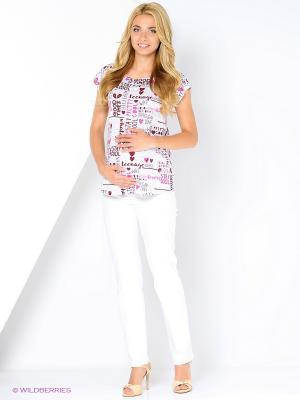 Блузка женская для беременных Hunny Mammy. Цвет: серый, лиловый, белый