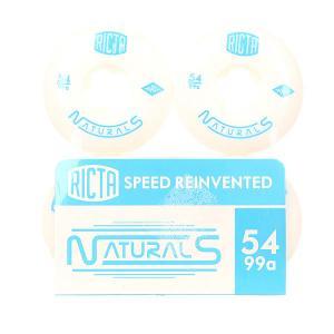 Колеса для скейтборда  Naturals White/Blue 99A 54 mm Oj. Цвет: белый,голубой